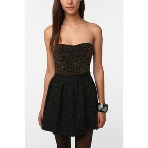 UO SILENCE+ NOISE Beaded Strapless Bustier Top